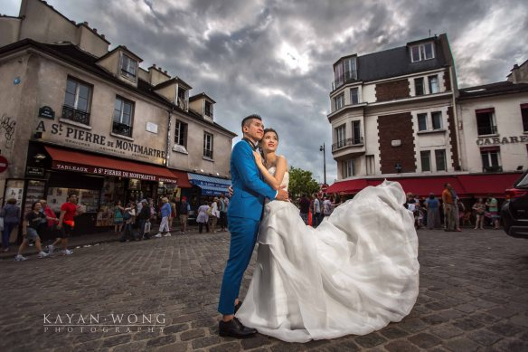 Pre-wedding photo Paris